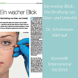 Lidtraffung, Dr. Karl Schuhmann, Kosmetik International